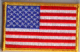 USA Embroidered Flag Patch, style 08.
